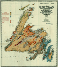 GISciences Diploma Program - 1919 Geological Map of Newfoundland