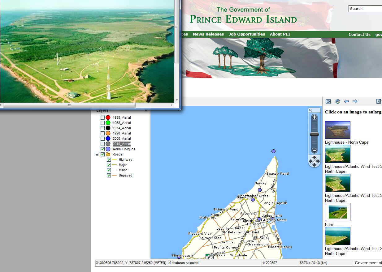 PEI Aerial Photograph Interactive Map Tool - PEI online map for aerial photos - oblique air photo