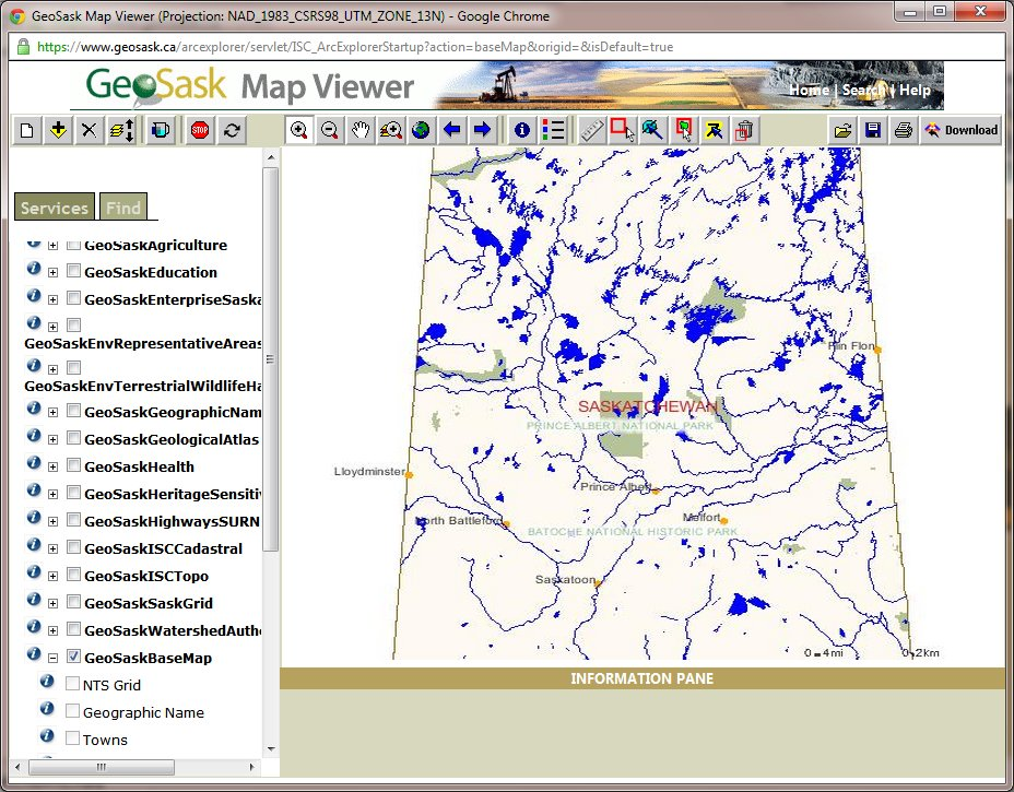 GEOSASK online map viewer