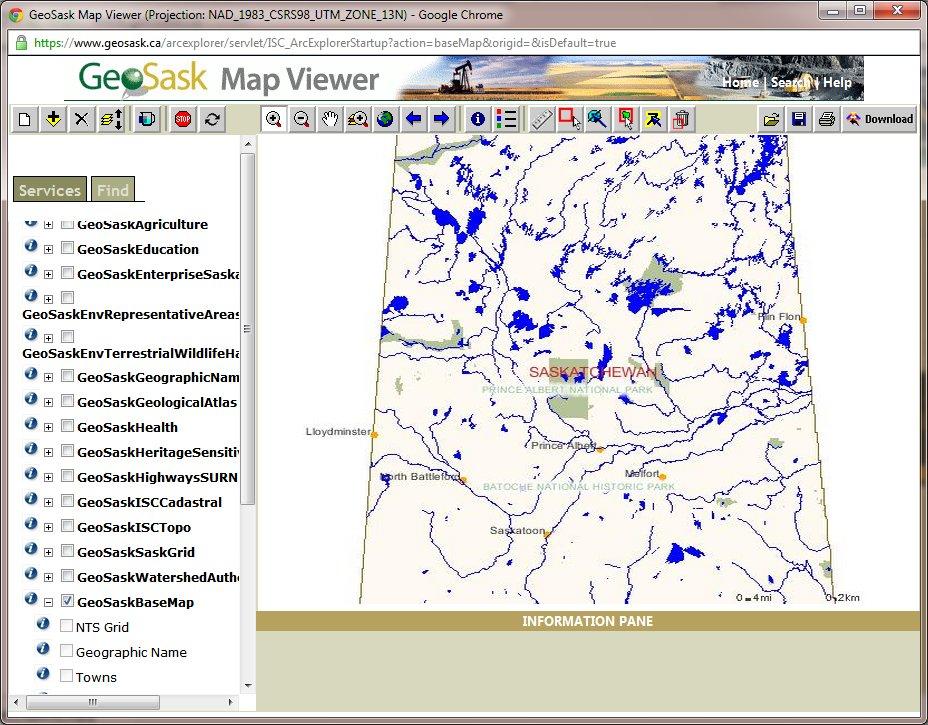 GEOSASK online map viewer