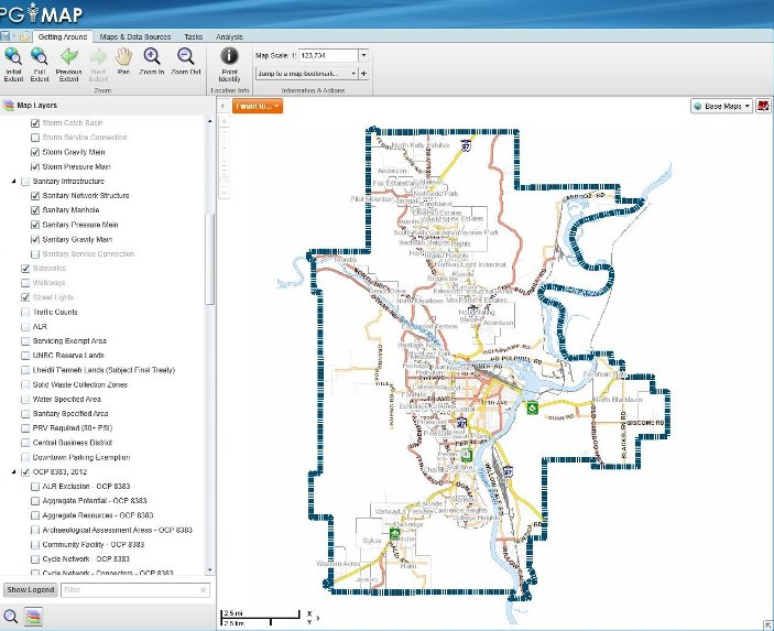 The City of Prince George PGMap online Application
