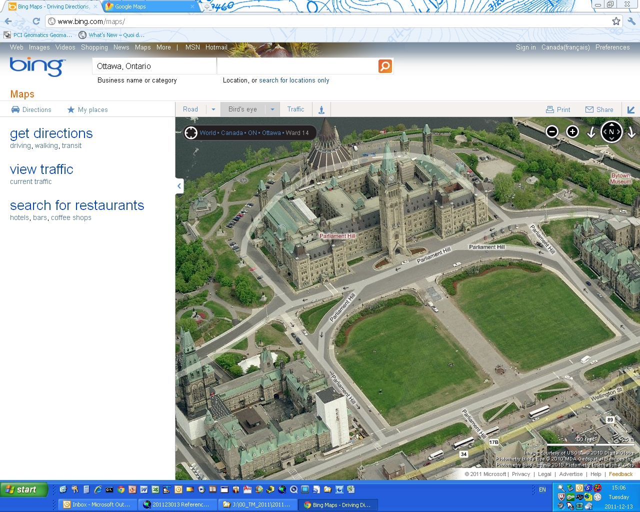 Ottawa - Ontario - Bing Birds Eye View 1