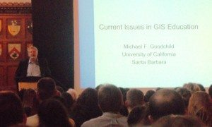 Geomatics Events / GIS Conferences - Michael Goodchild at GIS in Education and Research Conference