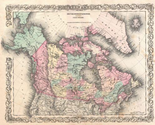 1855 Map of British North America