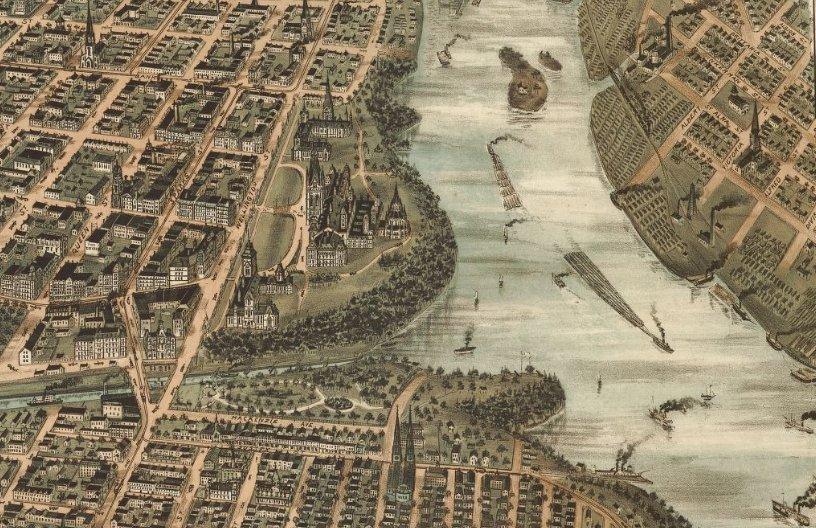 1895 Ottawa Panoramic Map