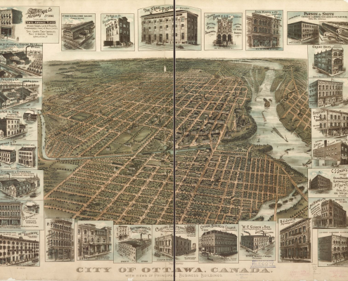 1895 Ottawa Panoramic Map