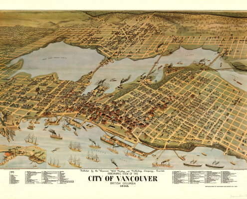 1898 Vancouver Panoramic View