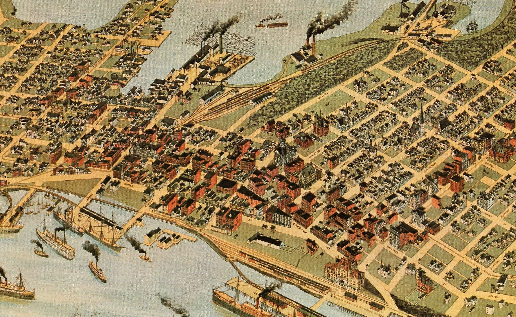 1898 Vancouver Panoramic Map