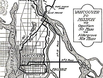 1917 Vancouver Mission Route Map - sm