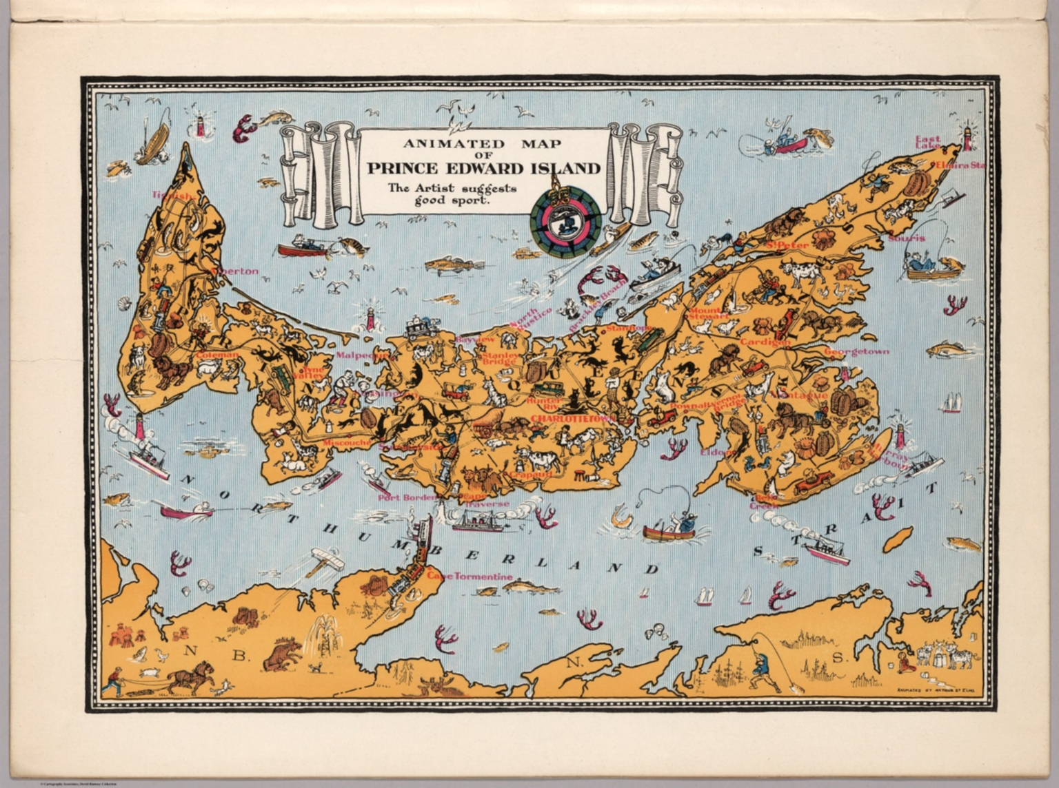 1929 PEI old map - Animated Map of Prince Edward Island