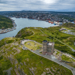 Drone Aerial View of Signal Hill, Newfoundland