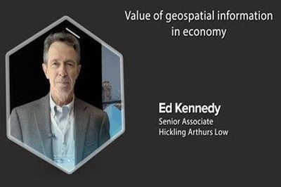 Ed kennedy explains the value of geospatial information in economy based on the Canadian geomatics environmental value study