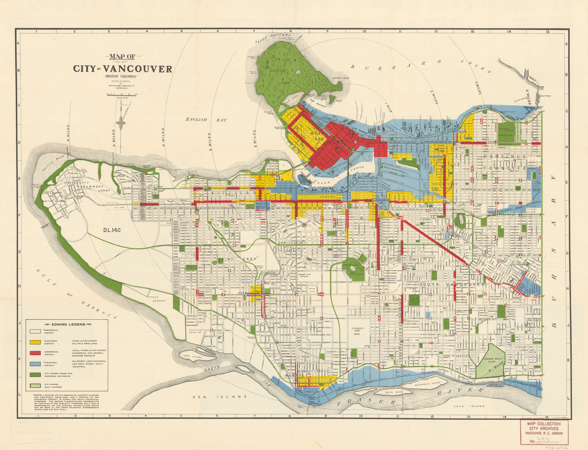 Vancouver Historic Maps And Plans - Map of us holdings 1912