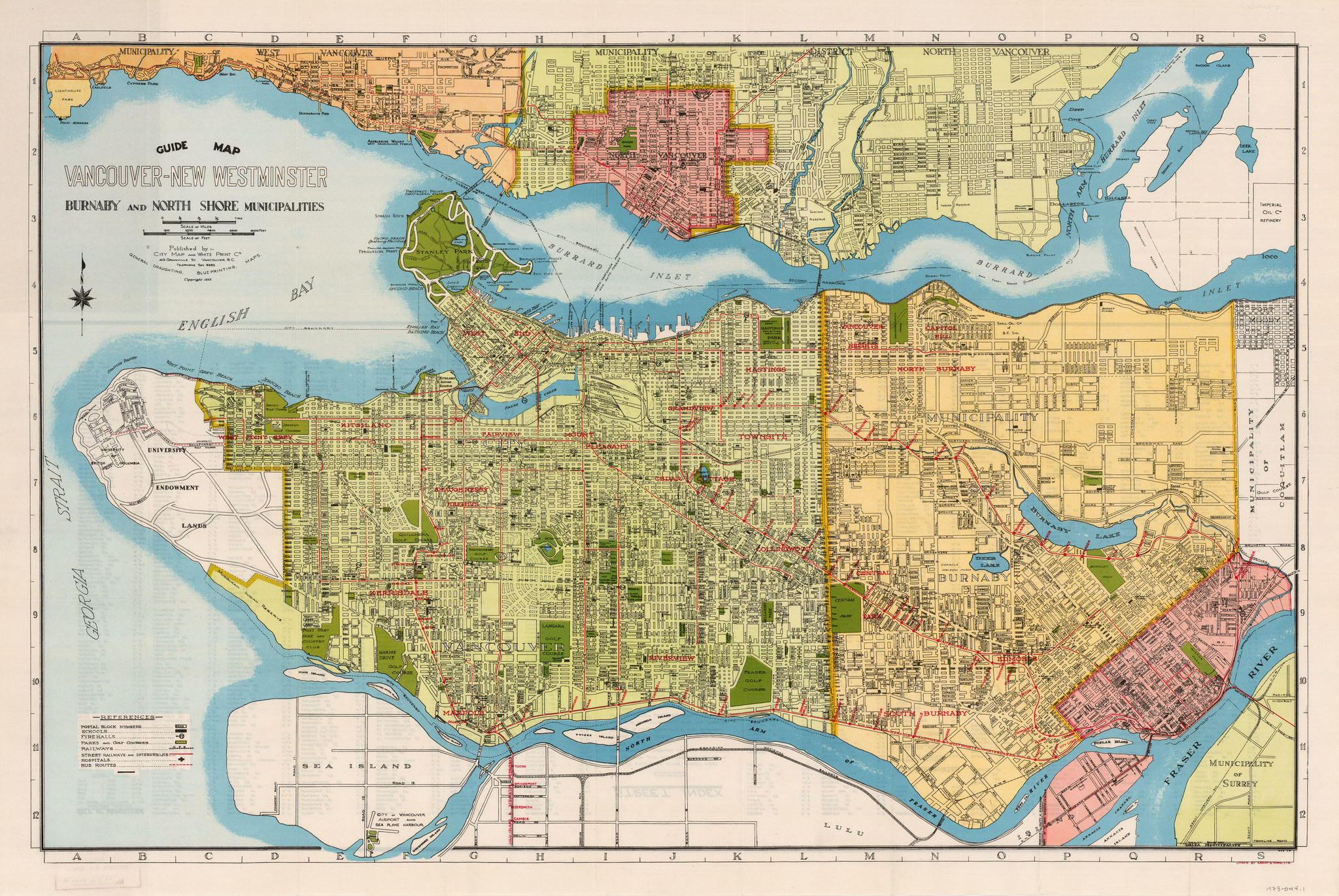 Vancouver Historic Maps and Plans - Canadian GIS & Geomatics
