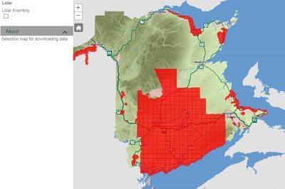 download New Brunswick LIDAR data free