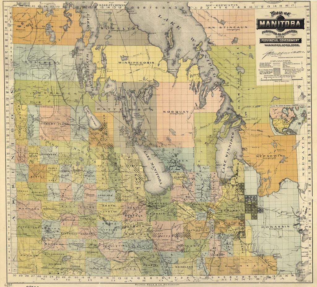 Historical Maps Of Manitoba - Manitoba map