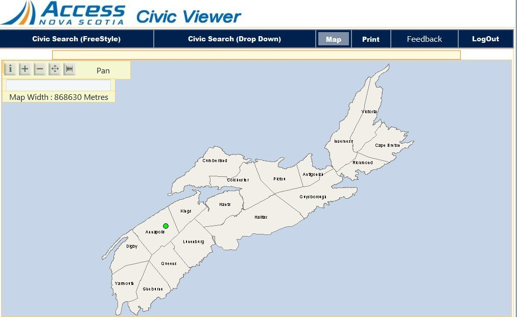 Access Nova Scotia Civic Viewer
