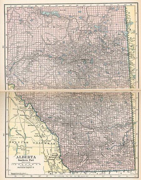 Alberta 1921 map