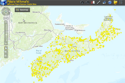 Interactive Atlas of Nova Scotia Mi'kmaw Place Names