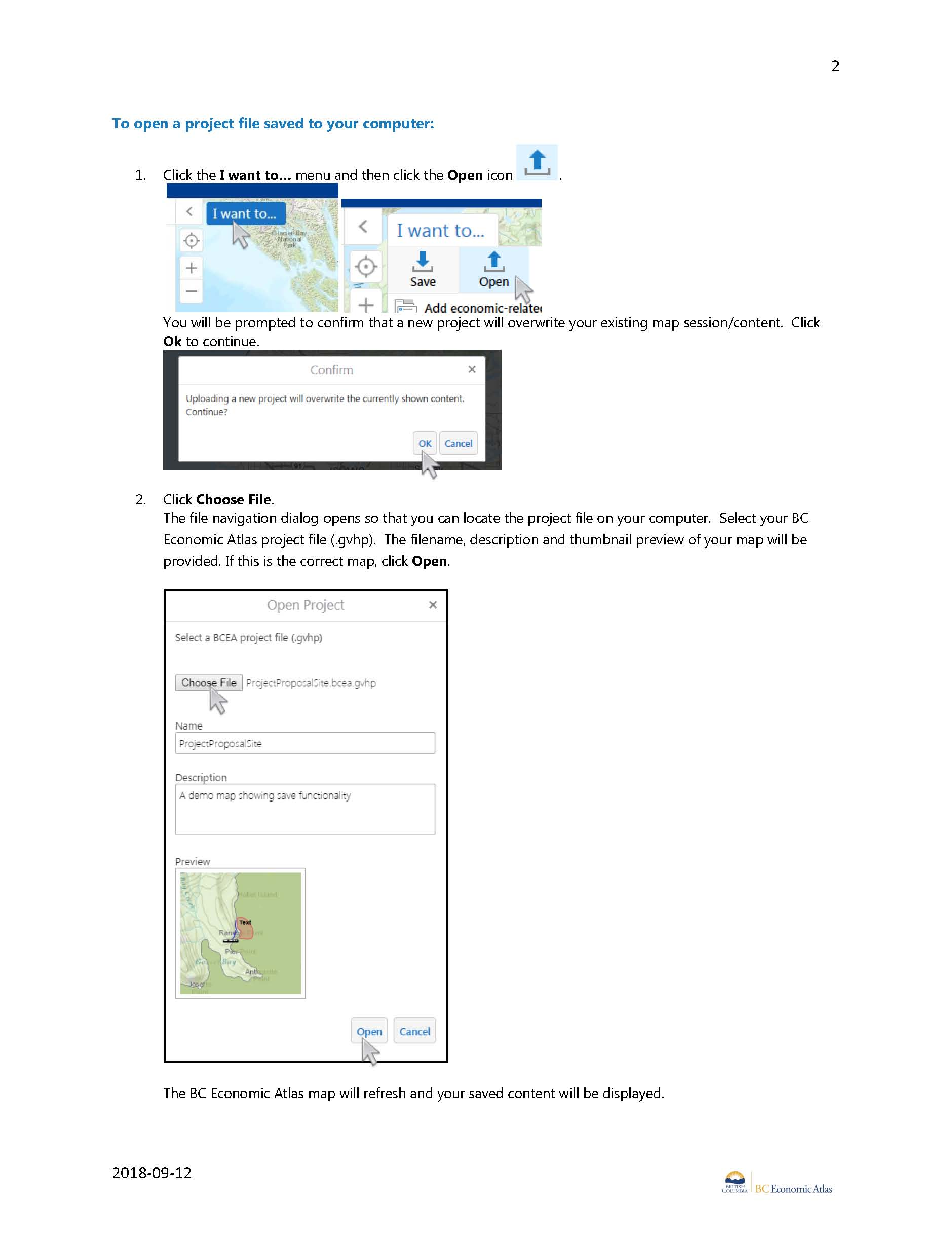 BC Economic Atlas now provides Save Project functionality