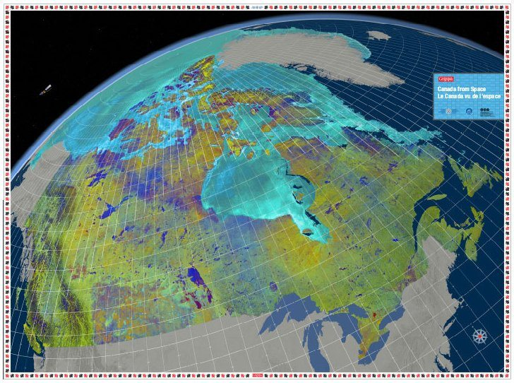 Canadian Geographic Giant Floor Map – Canada from Space