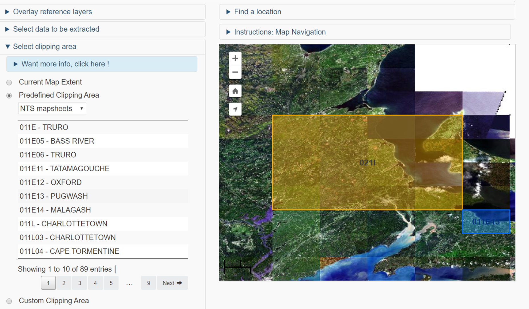 Canadian Geospatial Data Extraction Tool - Define your geographic area