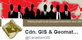 Follow @CanadianGIS on Twitter for GIS and Geomatics related info