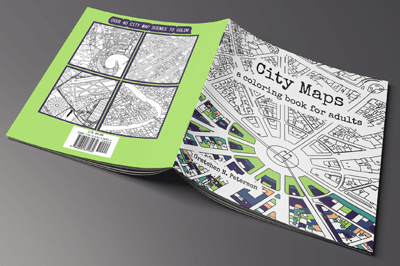 City Maps: A coloring book for adults