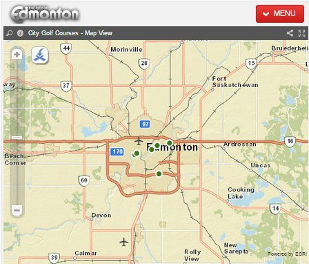 City of Edmonton & ESRI online mapping tools