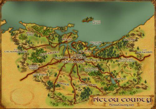 Nova Scotia maps & data - - Custom Map Art of Pictou County