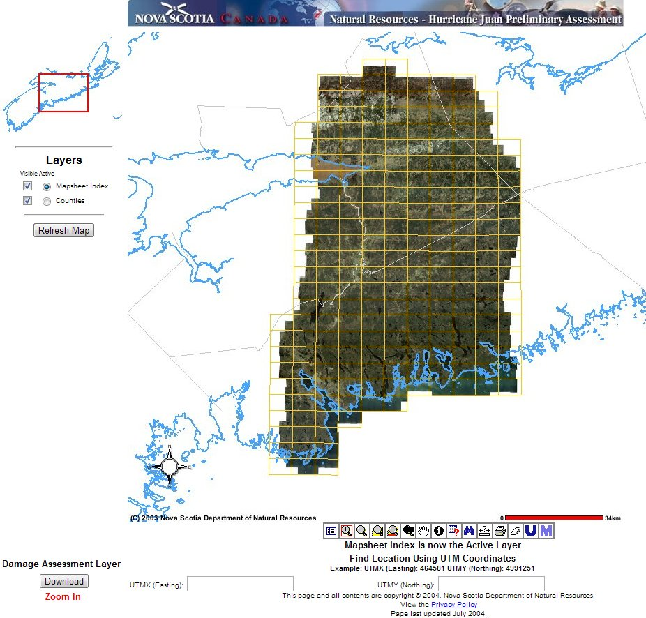 Download Ortho Imagery for Central Nova Scotia