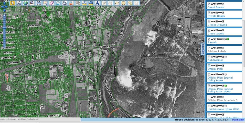 Canadian GIS Data - Falls Viewer