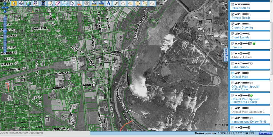 Canadian Open Data / Canadian GIS Data - Falls Viewer