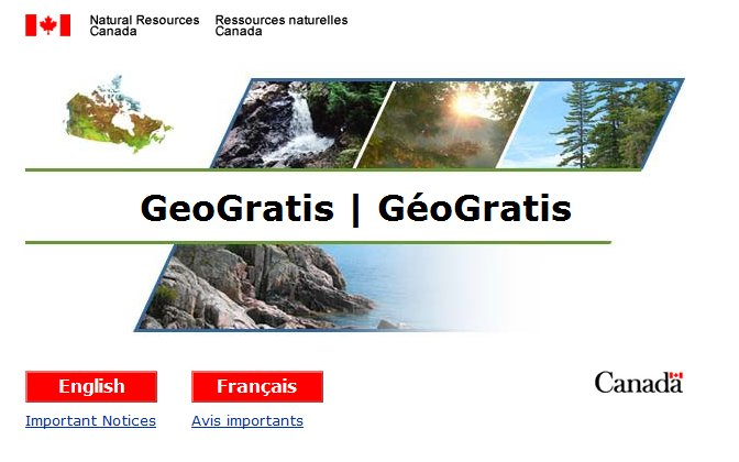 Canadian GIS Data - GeoGratis