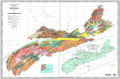 Nova Scotia maps & data - Geological Map of Nova Scotia