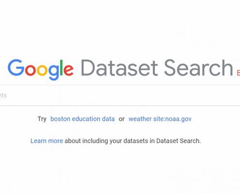 Google Dataset Search tool