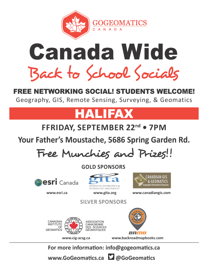 Halifax GoGeomatics Back to School Socials