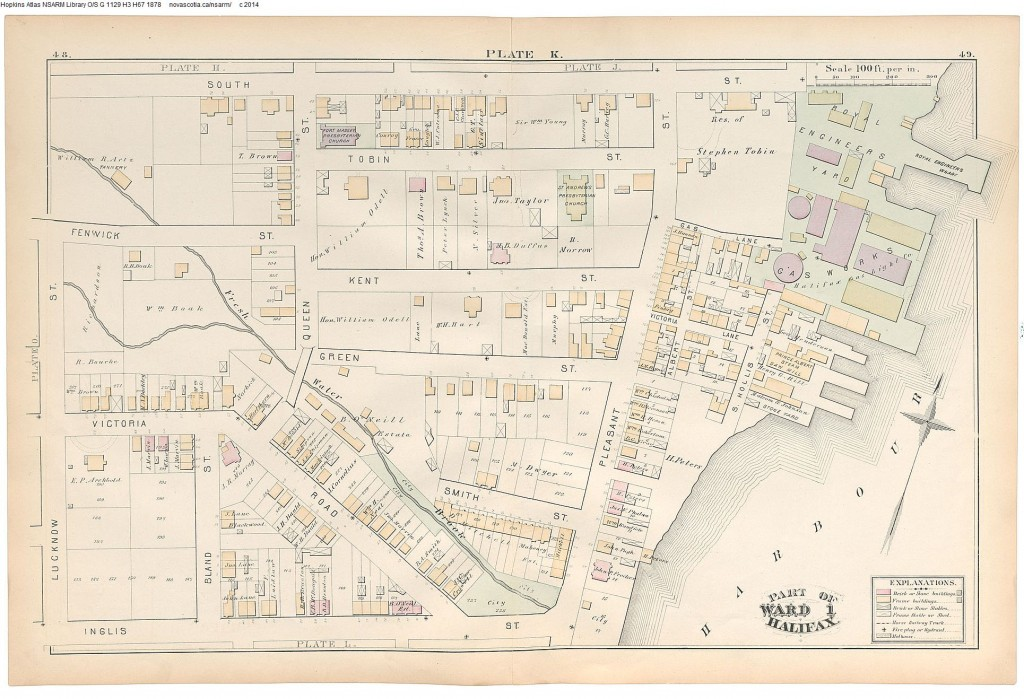 Halifax, Nova Scotia 1878 - 1878 Hopkins' City Atlas of Halifax