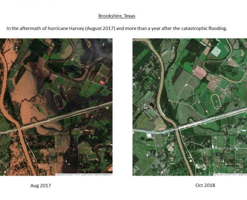 Satellite Imagery Integration within CAD platforms - Hurricane Harvey