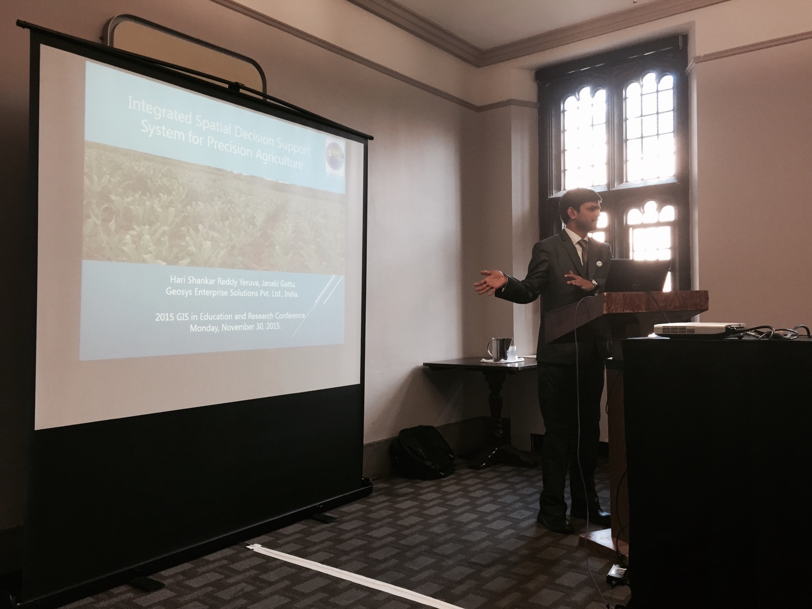 Michael Goodchild at GIS in Education and Research Conference