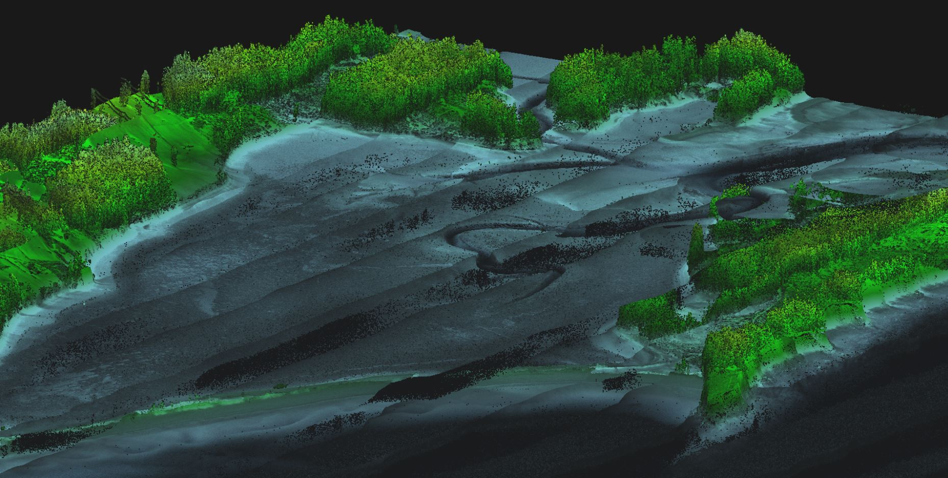 Bathymetric LIDAR - LiDAR Survey Studio smooth constant 3D viewing of LIDAR points