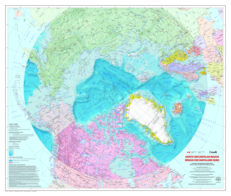 North Circumpolar Region Map