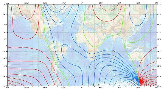 Magnetic declination calculator