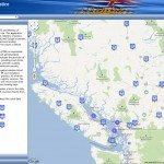 British Columbia Court Services Locator Map