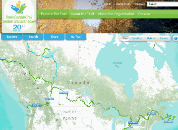 Trans Canada Trail Interactive Web Map Canadian Gis Geomatics