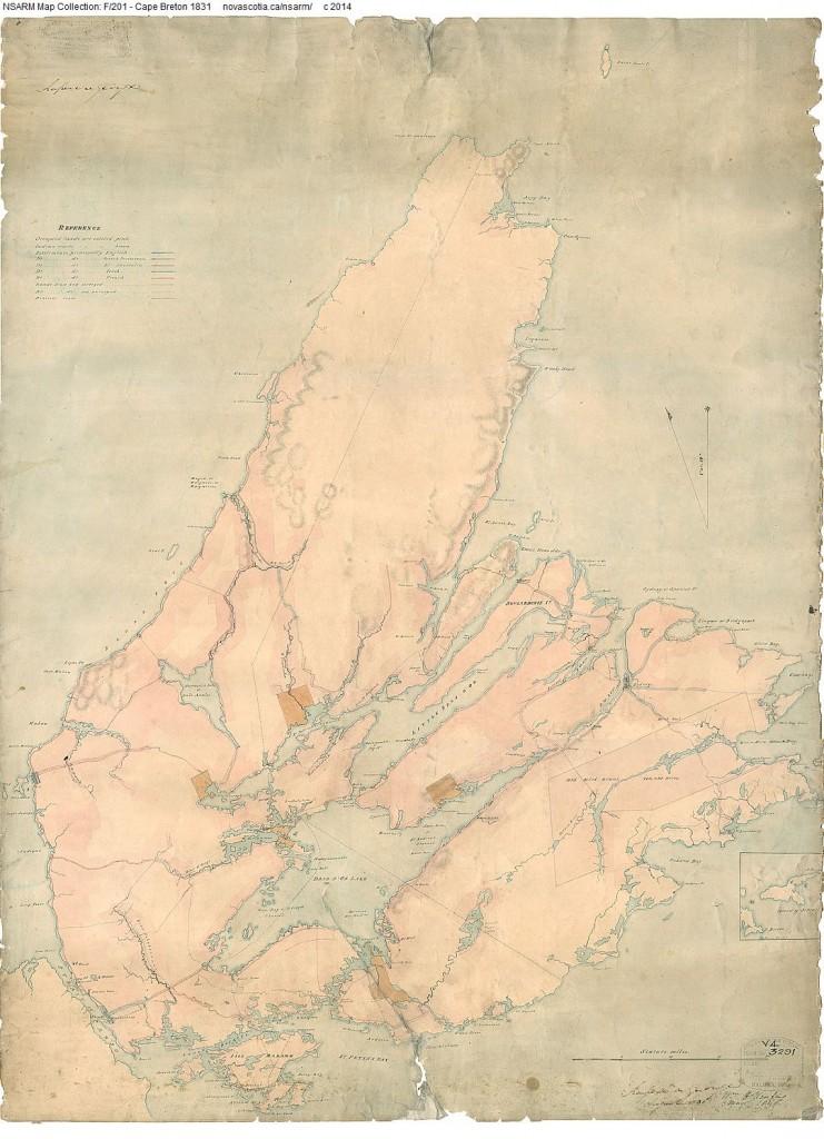 Map of Cape Breton, 1831