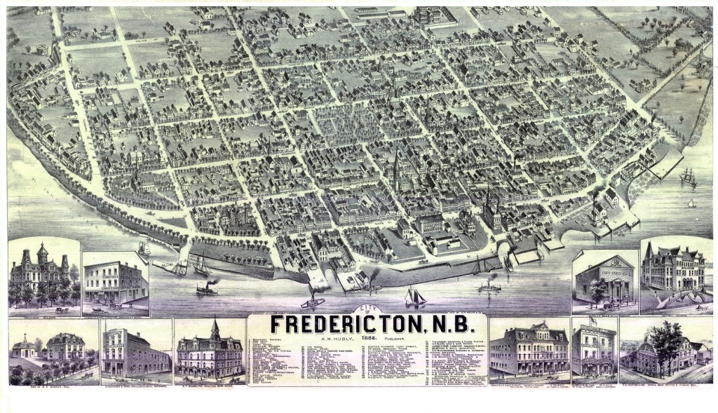 historical maps of Fredericton - Alexander Hubly - 1882
