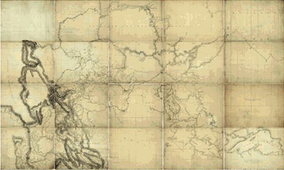 Map 1826 Northwestern North America by Thompson
