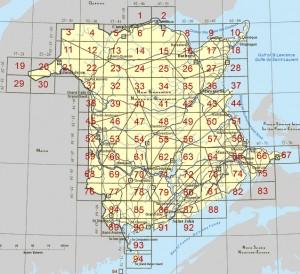 Canadian GIS Data - New Brunswick top data