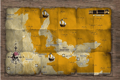 Prince Edward Island Pirate map